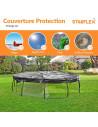 Couverture bache de protection universelle pour trampoline Ø 370 cm