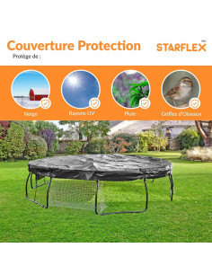 Couverture de protection universelle pour trampoline Ø 430 cm