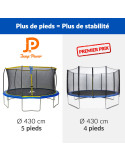 Trampoline Jump Power - Diamètre 427 cm