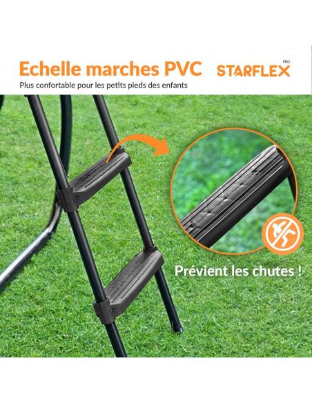 PACK 3 ACCESSOIRES 370 cm: Echelle, Ancrage, Bâche 370 cm - 4