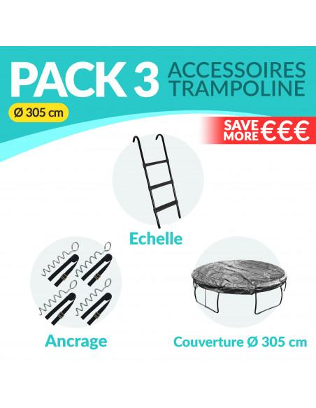 PACK 3 ACCESSOIRES 305 cm: Echelle, Ancrage, Bâche 305 cm - 1