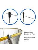 Trampoline Jump Power avec echelle et panier de basket - Diamètre 183 cm