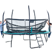 trampoline avec protection anti-vent